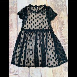 Wonder Nation polka dot sheer dress size M